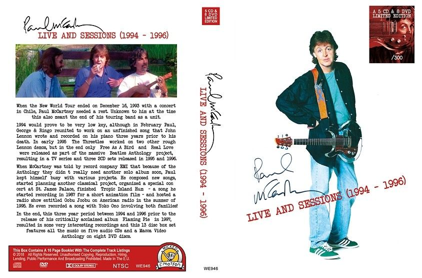 MCCARTNEY PAUL - LIVE END SESSIONS: 1994-96
